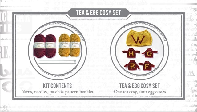 Weasley Tea & Egg Cosy: Harry Potter Knit Kit - 3