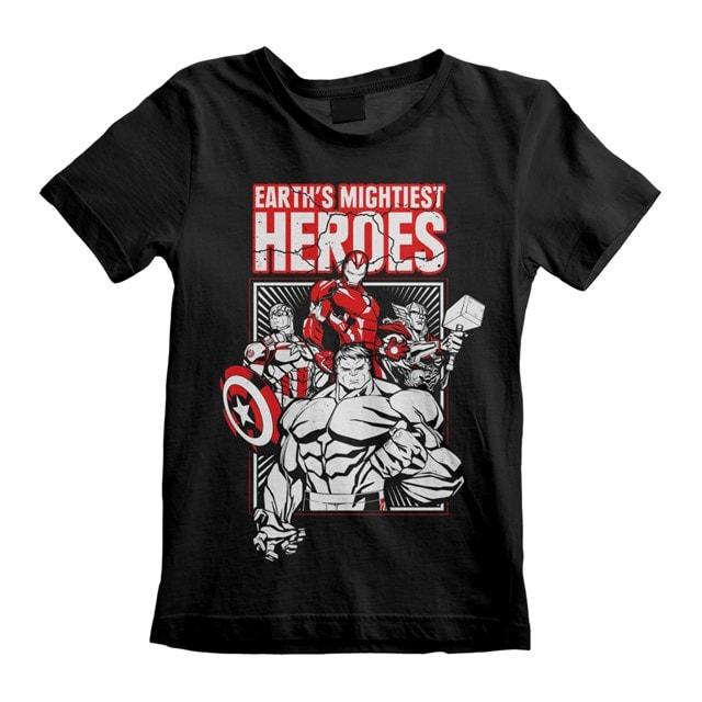 Marvel Comics: The Avengers: Earth's Mightiest Heroes (Kids Tee) (3-4YR) - 1