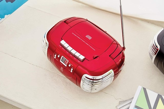GPO PCD299 Red CD & Cassette Player with AM/FM Radio - 2