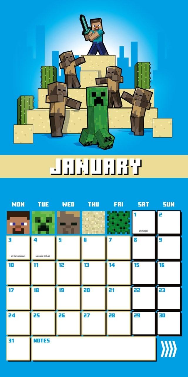 Minecraft Square 2022 Calendar - 4