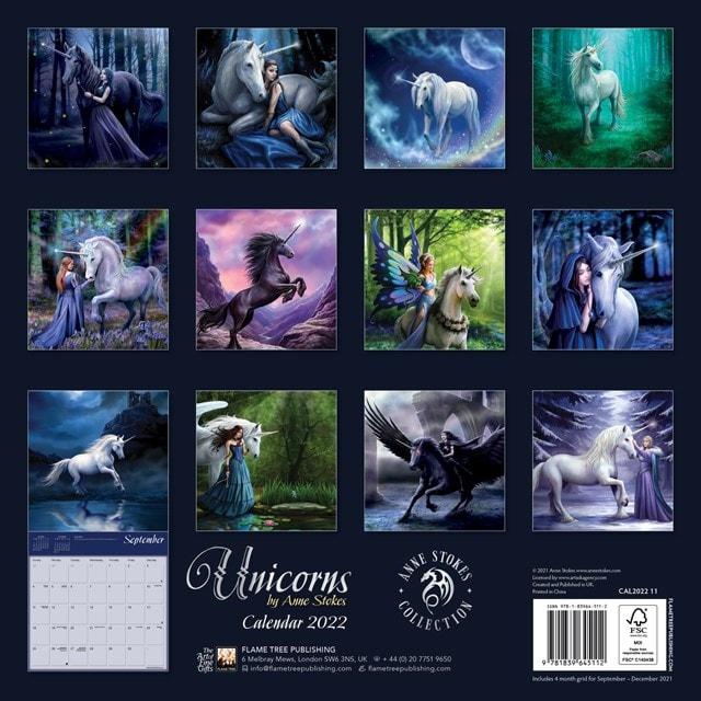 Unicorns: Anne Stokes Square 2022 Calendar - 3