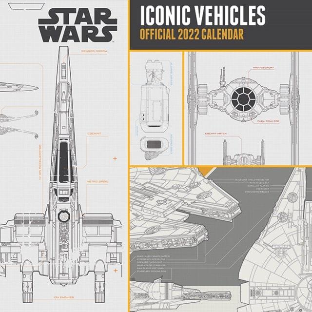 Star Wars Vehicles: Square 2022 Calendar - 1