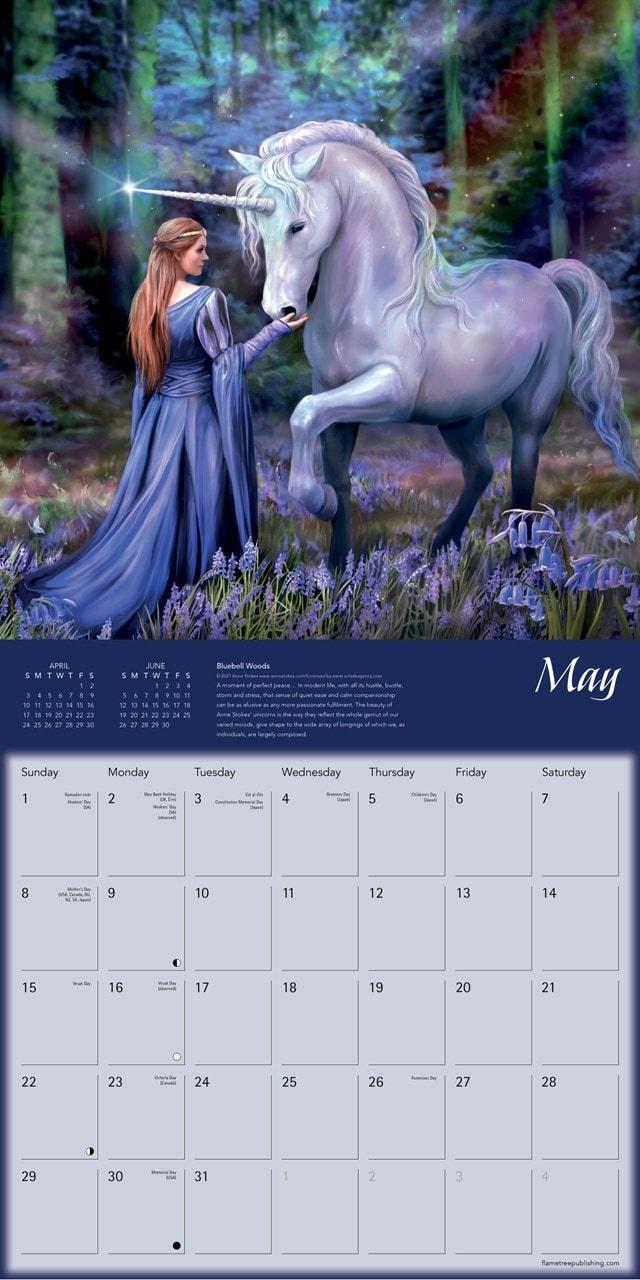 Unicorns: Anne Stokes Square 2022 Calendar - 2