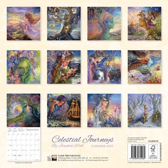 Celestial Journeys: Josephine Wall Square 2022 Calendar - 3
