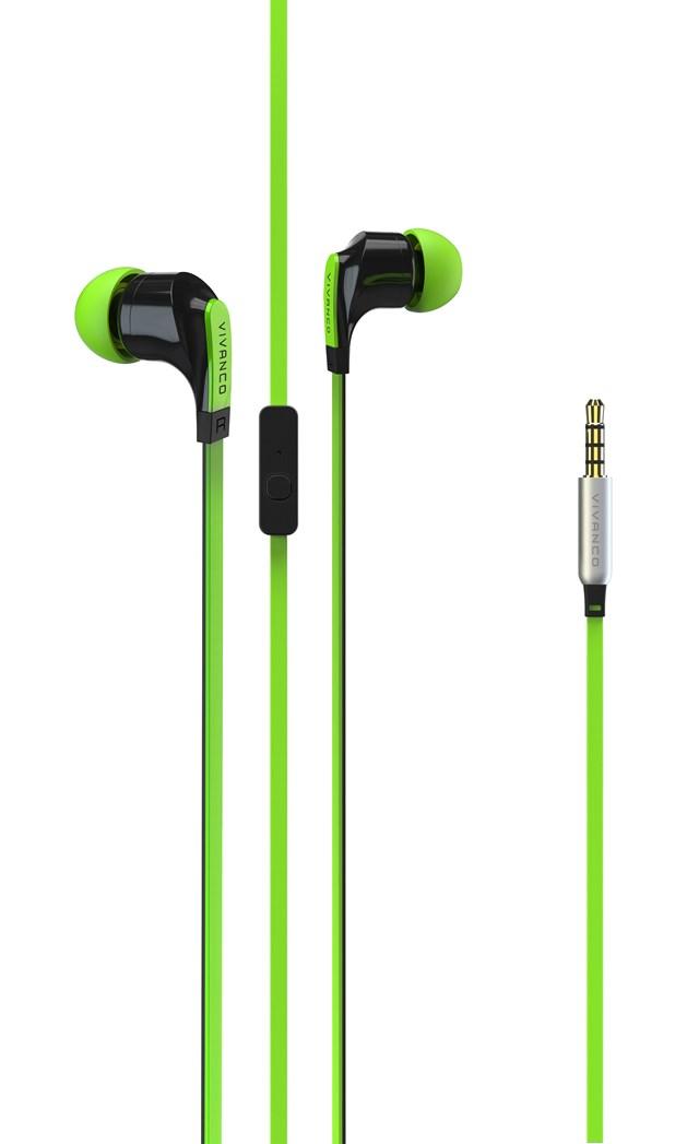 Vivanco Talk 4 Green Earphones - 1
