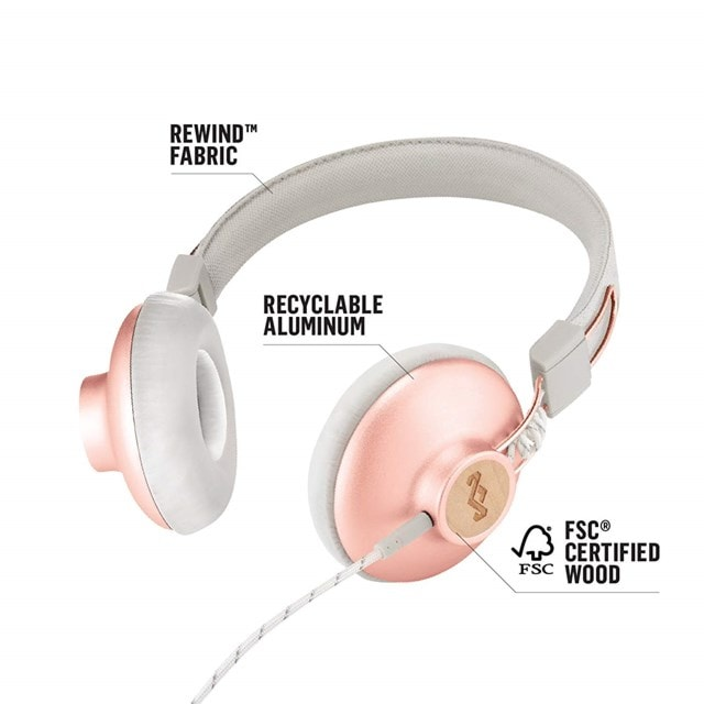 House Of Marley Positive Vibration 2.0 Copper Headphones w/Mic - 3