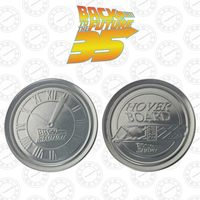 Back To The Future: Metal Embossed Coaster Set - 3