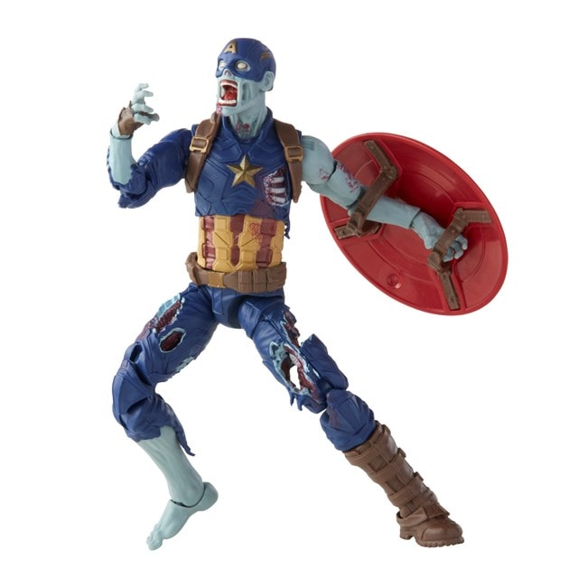 Zombie Captain America: Hasbro Marvel Legends Series Action Figure - 9