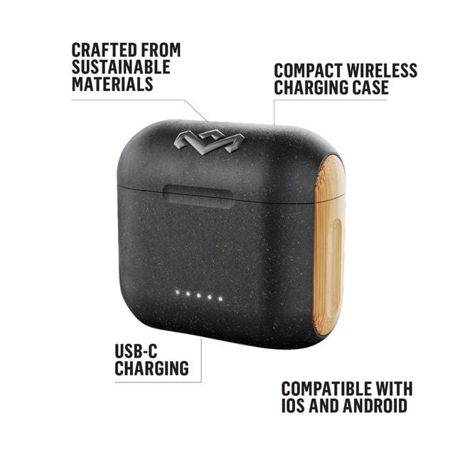 House of Marley Rebel Signature Black True Wireless Bluetooth Earphones - 4
