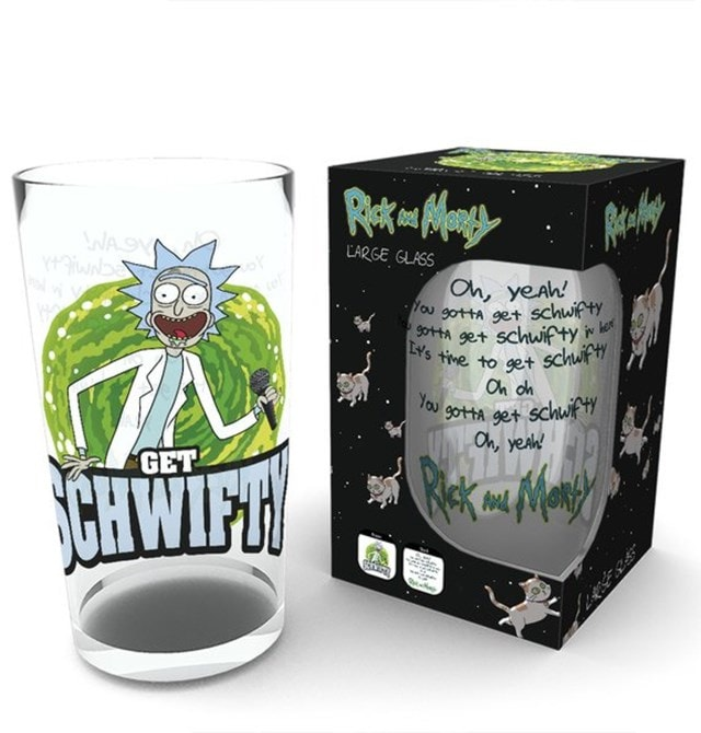 Rick & Morty Get Schwifty Large Glass - 1