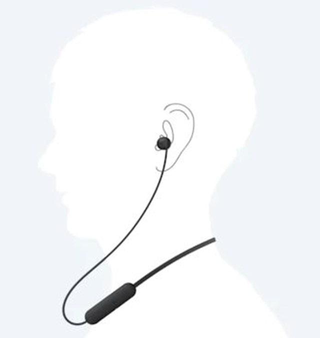 Sony WI-C200 Black Bluetooth Earphones - 5