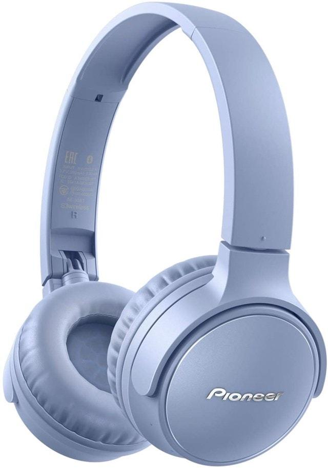 Pioneer S3 BT Blue Bluetooth Headphones - 1