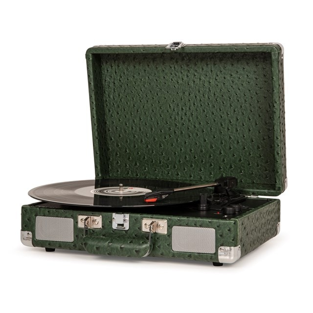 Crosley Cruiser Deluxe Green Ostrich Turntable - 2