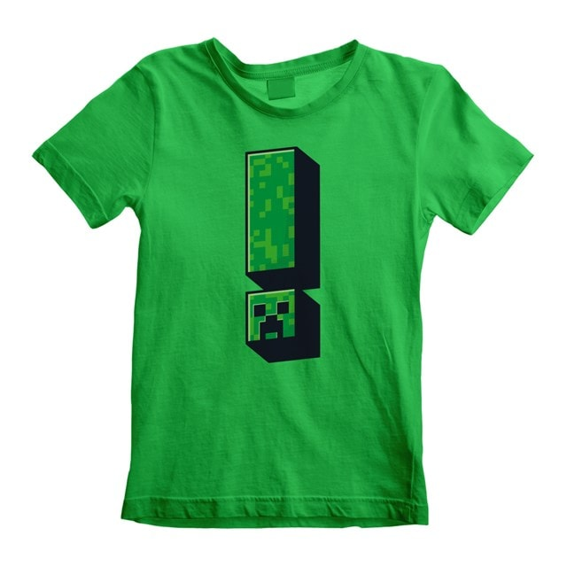 Minecraft Creeper: Exclamation (Kids Tee) (3-4YR) - 1