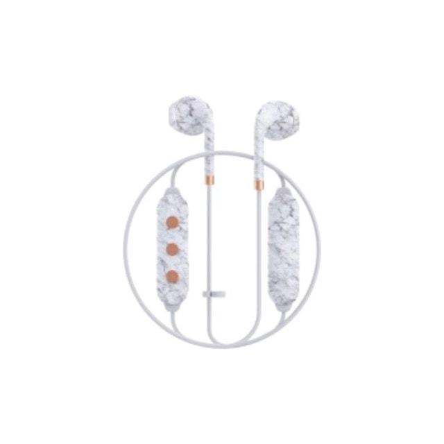 Happy Plugs Wireless II White Marble Bluetooth Earphones - 4