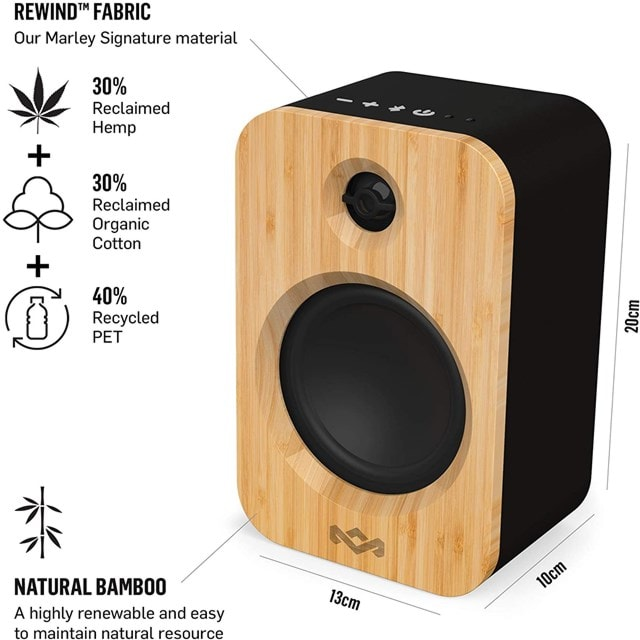 House Of Marley Get Together Duo Bluetooth Bookshelf Speakers - 2