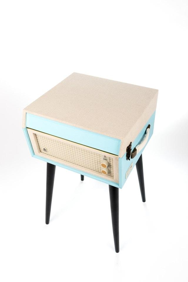 GPO Bermuda Blue Turntable - MP3 USB & Built-In Speaker - 5