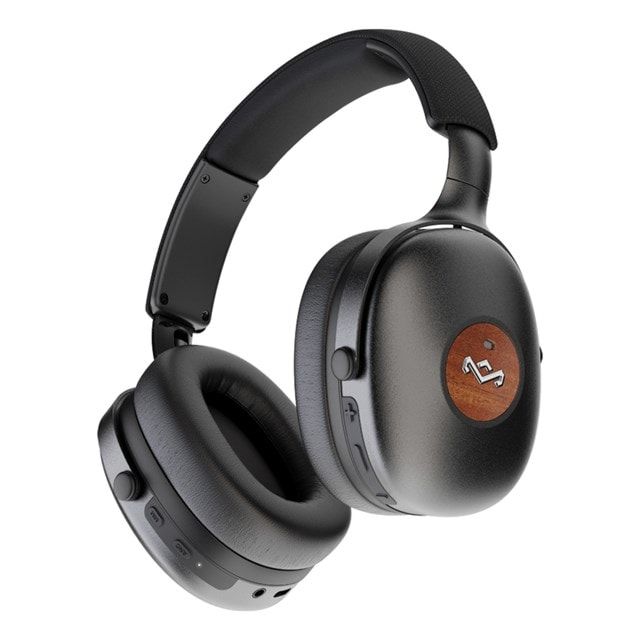 House of Marley Positive Vibration XL ANC Black Bluetooth Active Noise Cancelling Headphones - 1