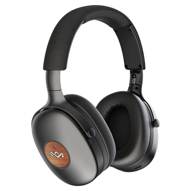 House of Marley Positive Vibration XL ANC Black Bluetooth Active Noise Cancelling Headphones - 2