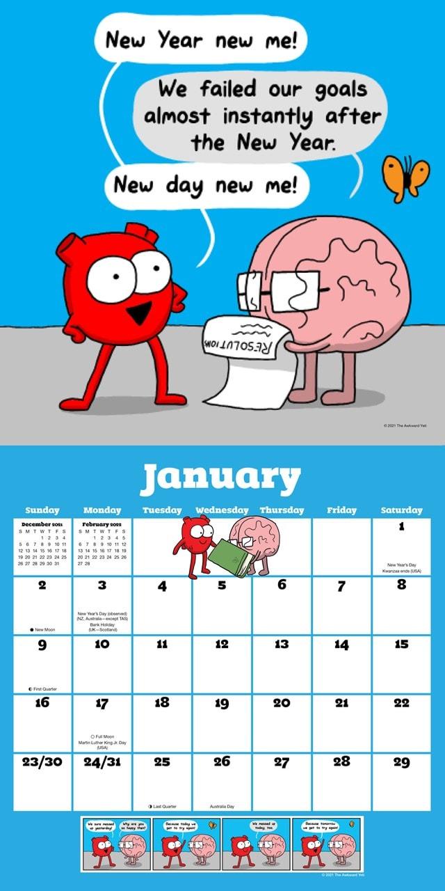 Heart and Brain Square 2022 Calendar - 2