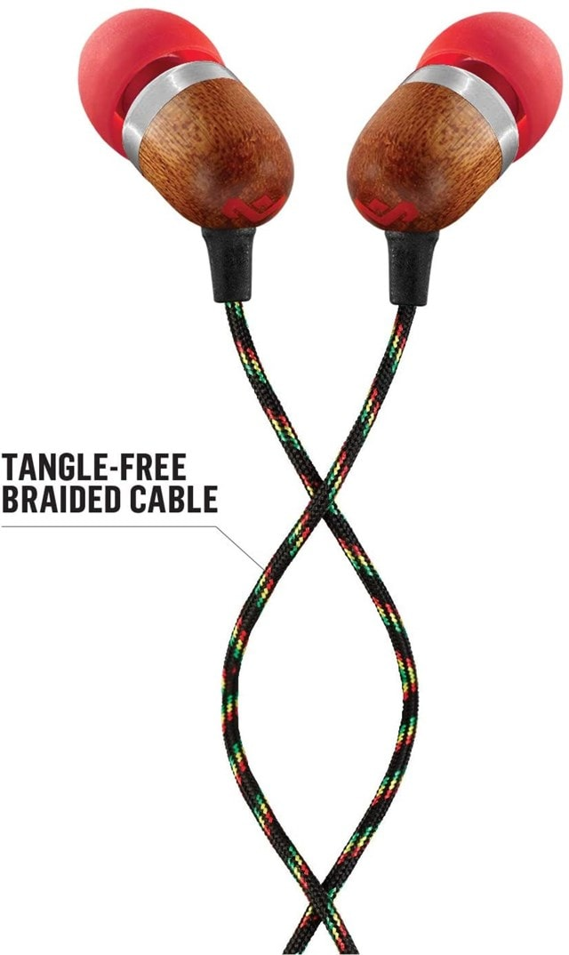 House Of Marley Smile Jamaica Fire Earphones W/Mic - 2