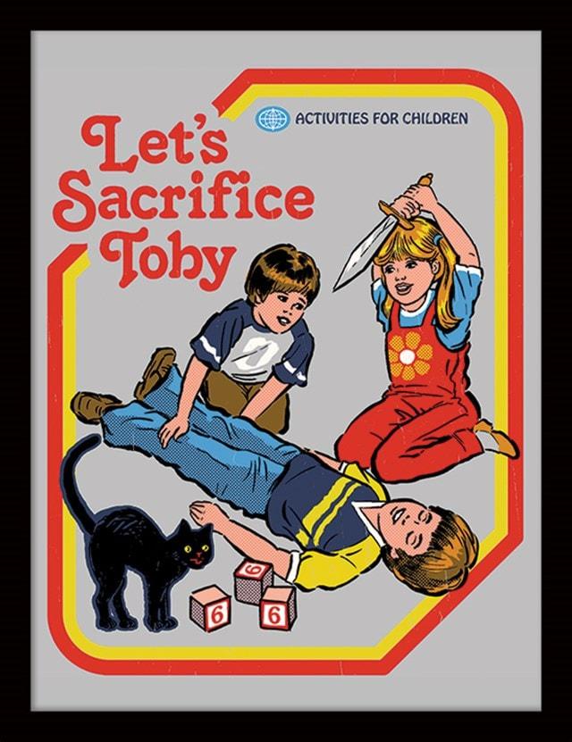 Steven Rhodes: Let's Sacrifice Toby Framed Print - 1