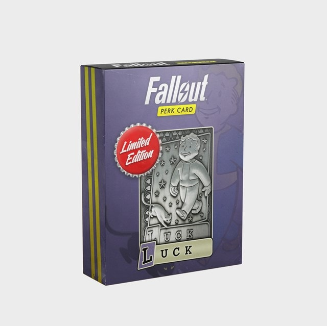 Fallout: Luck Metal Perk Card - 1