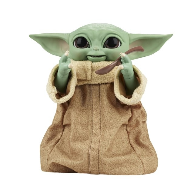 Star Wars Galactic Snackin' Grogu Integrated Play Soft Toy - 9