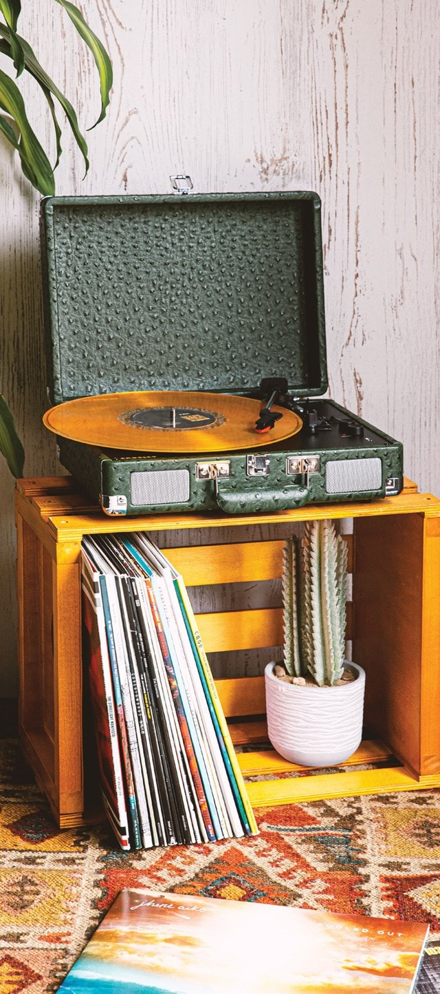 Crosley Cruiser Deluxe Green Ostrich Turntable - 7