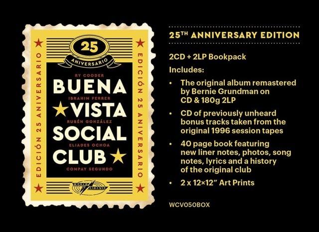 Buena Vista Social Club (25th Anniversary Deluxe Edition) - 2LP & 2CD Bookpack - 2