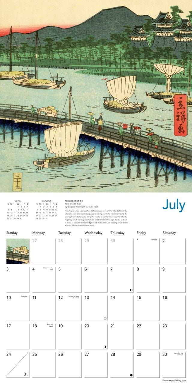 Japanese Woodblocks Square 2022 Calendar - 2