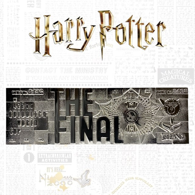 Harry Potter: Quidditch World Cup Ticket Metal Replica (online only) - 1