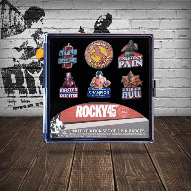 Rocky Limited Edition Pin Badges (Pack of 6) - 3