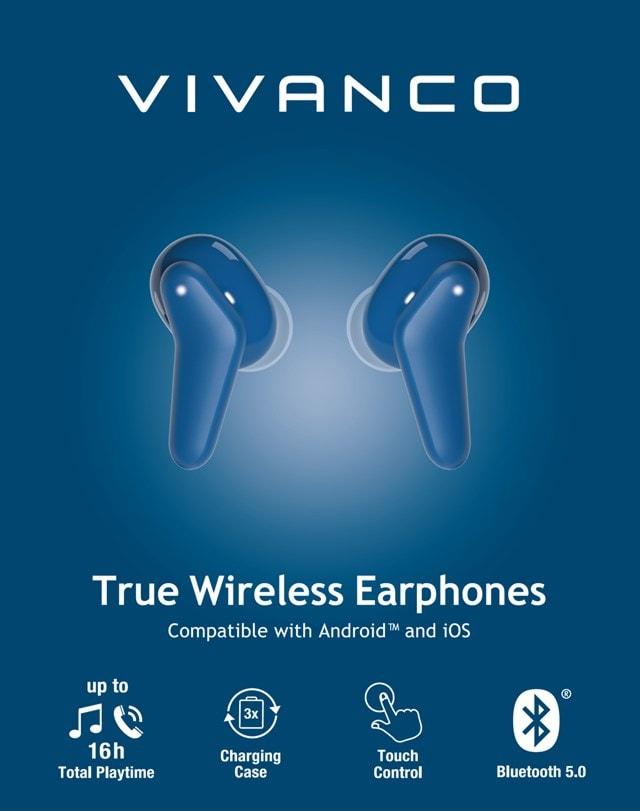 Vivanco Fresh Pair Blue True Wireless Bluetooth Earphones - 4