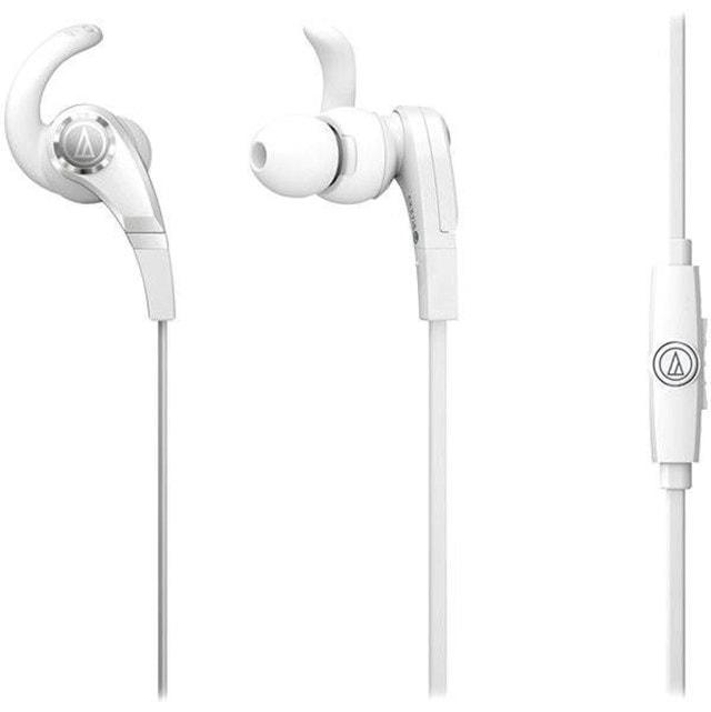 Audio Technica ATH-CKX7IS Sonic Fuel White Earphones W/Mic - 1