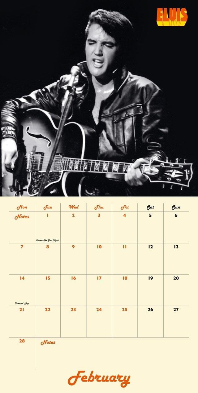 Elvis Collectors Edition Record Sleeve 2022 Calendar - 4