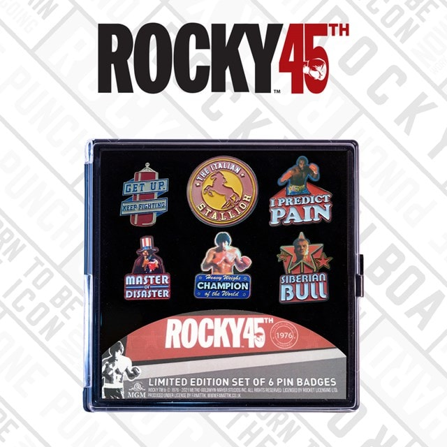 Rocky Limited Edition Pin Badges (Pack of 6) - 1
