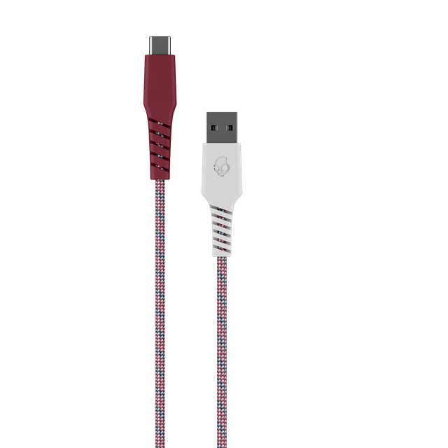 Skullcandy Braided USB-C Vice/Crimson Cable 1.2m - 1