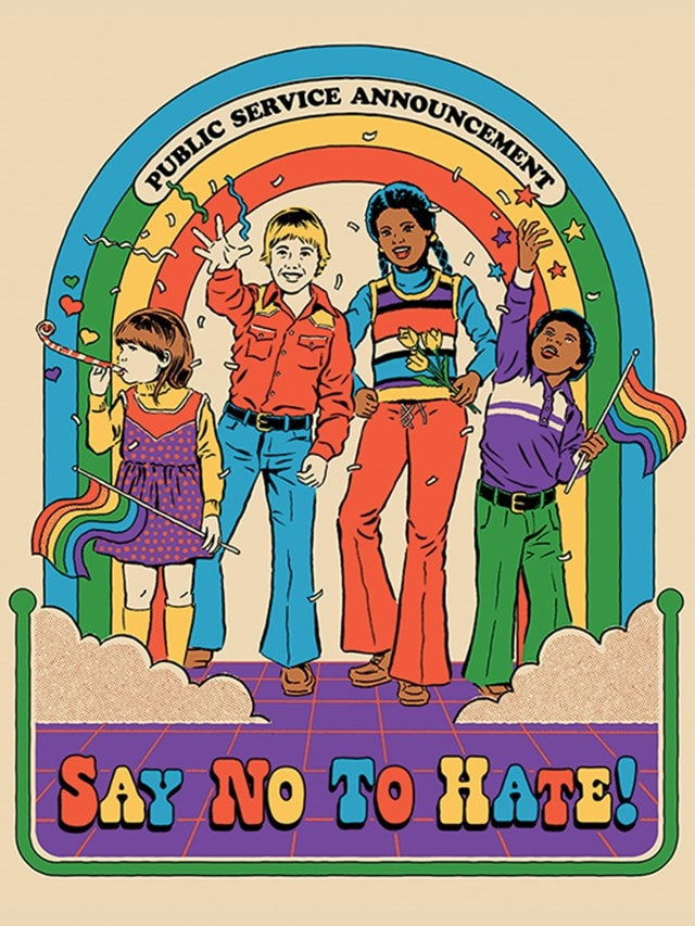 Say No To Hate: Steven Rhodes Canvas Print - 1