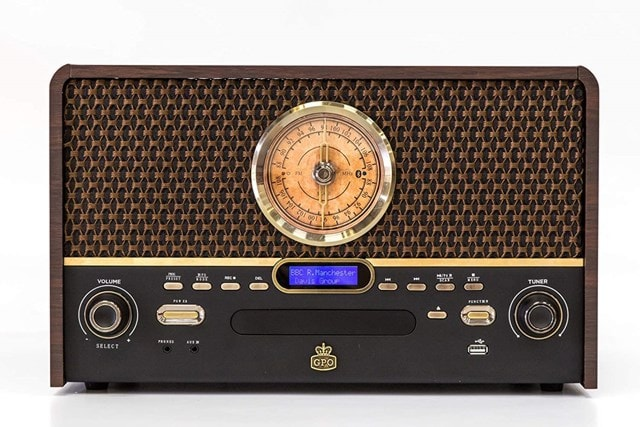 GPO Chesterton DAB Wood 5-In-1 USB Turntable w/ DAB Radio, CD & Cassette Player - 3