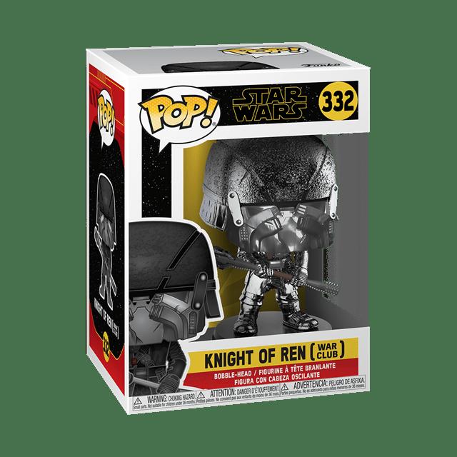 Chrome Knight of Ren: War Club (332) Rise of Skywalker: Star Wars Pop Vinyl - 2