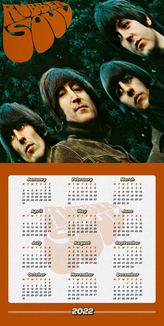 The Beatles Collectors Edition Record Sleeve 2022 Calendar - 2