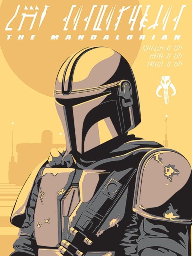 Star Wars: The Mandalorian: Illustration Canvas Print - 1