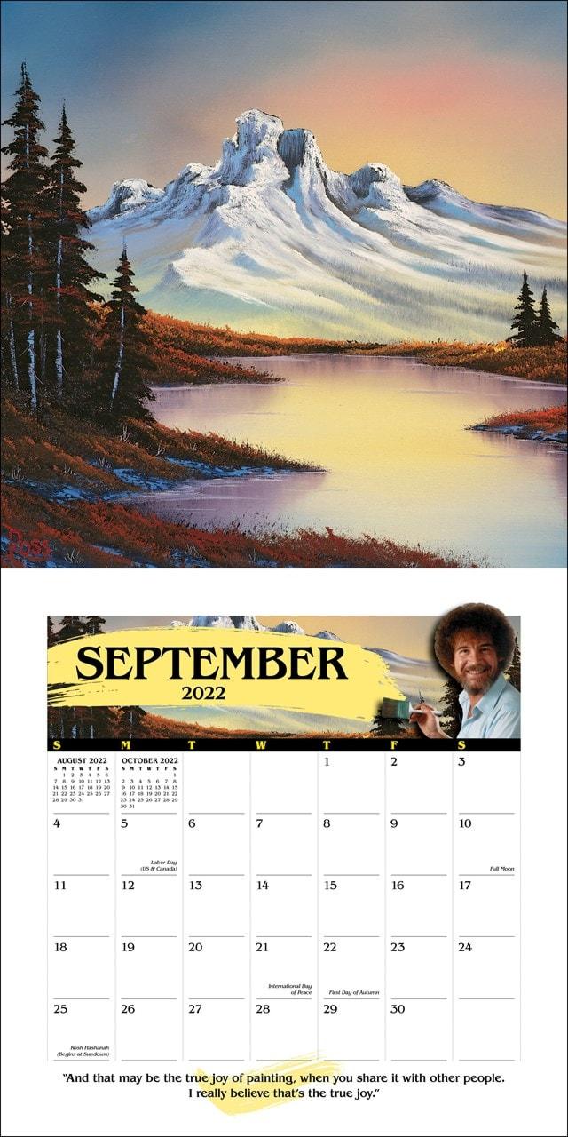 Bob Ross Square 2022 Calendar - 2