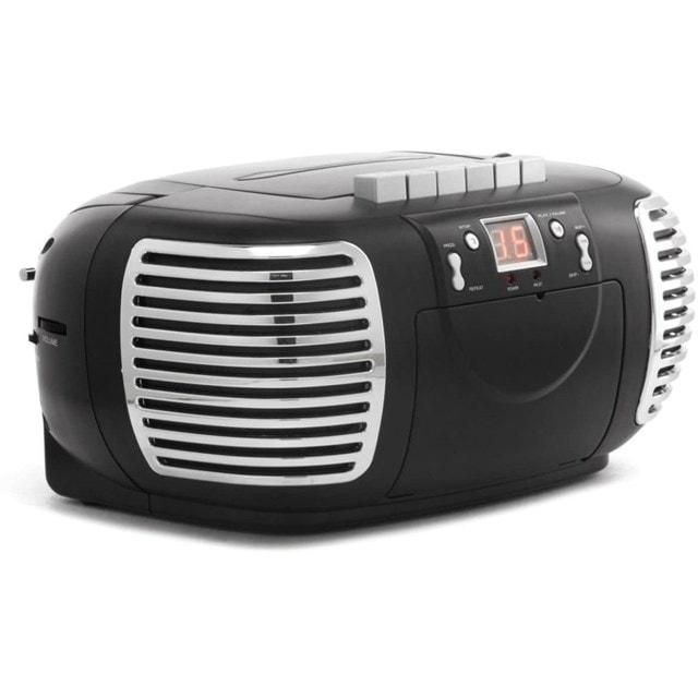 GPO Black CD & Cassette Player w/ AM/FM Radio - 3