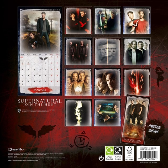 Supernatural Square 2022 Calendar - 2