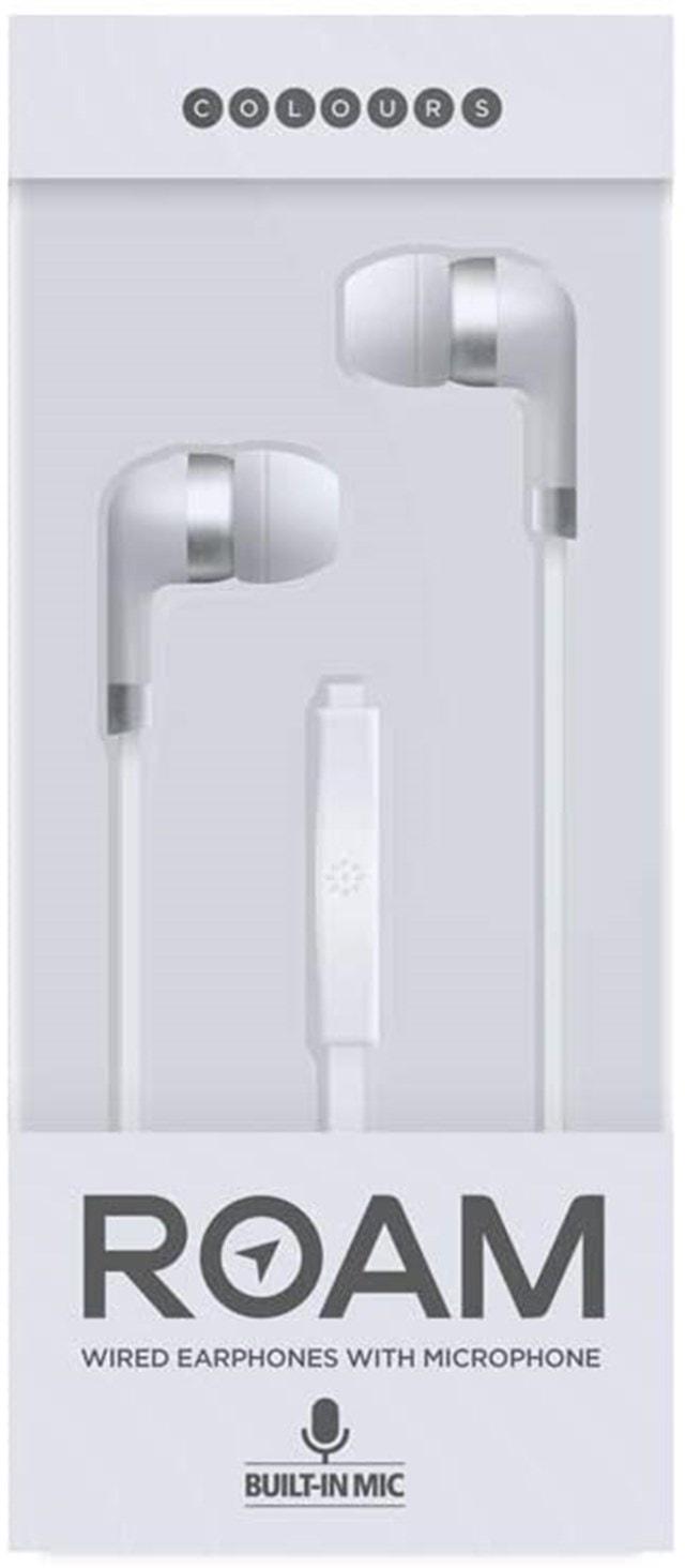 Roam Colours Plus White Earphones W/Mic - 1