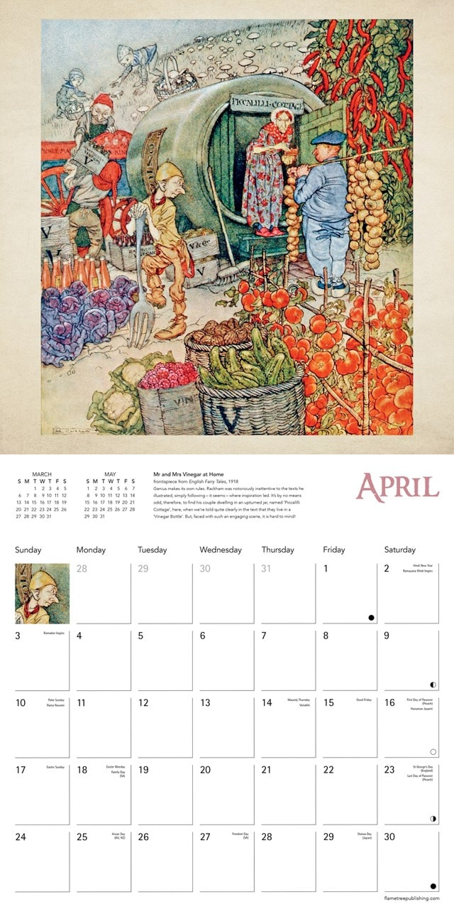 Arthur Rackham Square 2022 Calendar - 2
