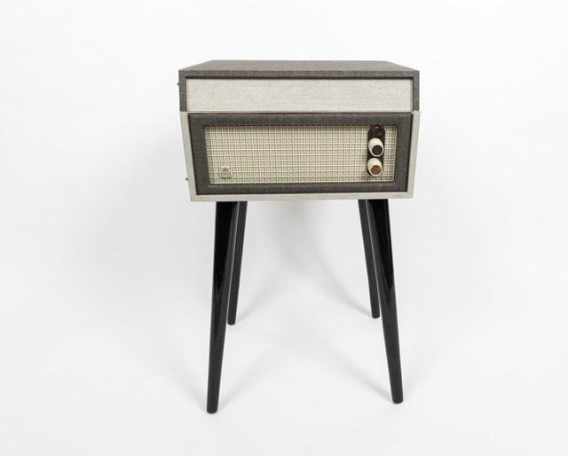 GPO Bermuda Grey Turntable - MP3 USB & Built-In Speaker - 2
