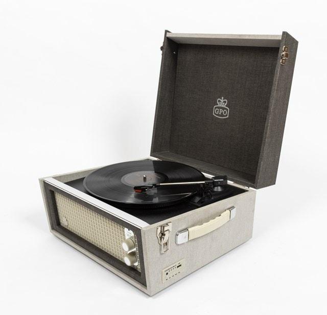 GPO Bermuda Grey Turntable - MP3 USB & Built-In Speaker - 4
